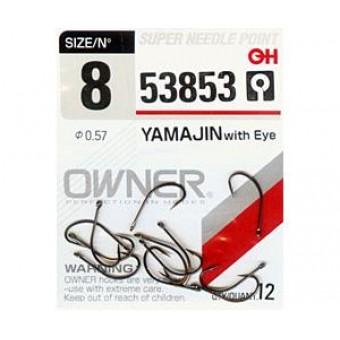 Крючки OWNER 53853 YAMAJIN WITH EYE № 8