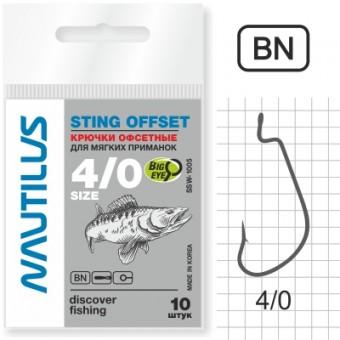 Крючок Nautilus Sting Offset SSW 1005 № 4/0