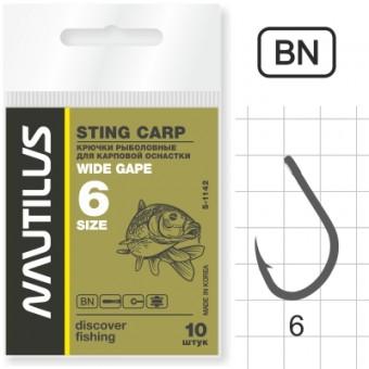 Крючок Nautilus Sting Wide gape S-1142BN №6