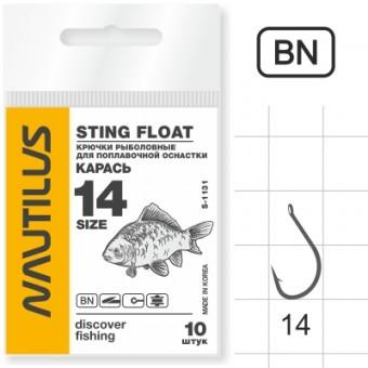 Крючок Nautilus Sting Карась S-1131BN №14