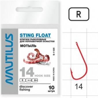 Крючок Nautilus Sting Мотыль S-1125R №14