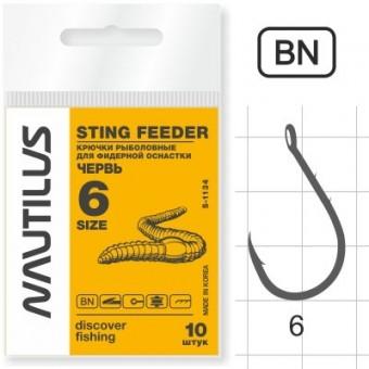 Крючок Nautilus Sting Фидер-червь S-1134BN №6