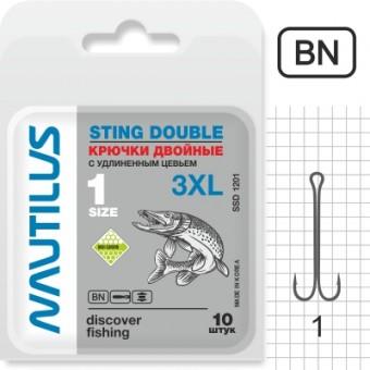 Крючок двойной Nautilus Sting 3XL SSD 1201 № 1