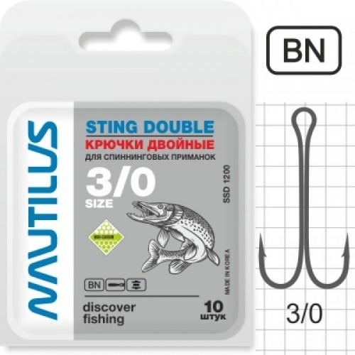 Крючок двойной Nautilus Sting Double SSD 1200 №3/0