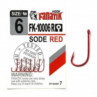 Крючки Fanatic FK-10006 Sode Red №6