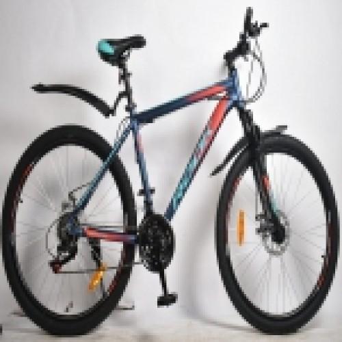 """Велосипед 26"""" ROOK MA260D (DISK) (21-ск.) синий/красный (рама 18)"""