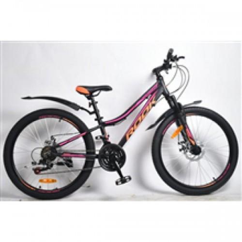 """Велосипед 26"""" ROOK MA260DW (DISK) (21-ск.) черный/розовый (рама 15)"""