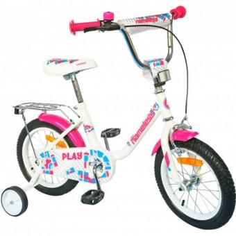 """Велосипед 12"""" NAMELESS PLAY белый/фиолетовый"""