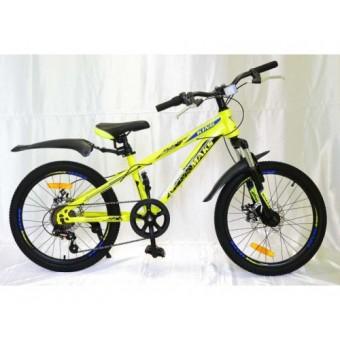 """Велосипед 20"""" MAKS RUNNER MD желтый (рама 13)"""