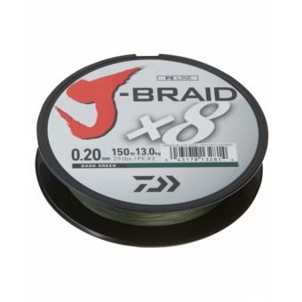 Шнур Daiwa J-Braid X8 Dark Green 0.20мм 150м