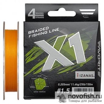 Шнур Favorite X1 PE 4x 1.0 d-0.165мм 8.7кг 150м