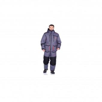 Костюм зим. Поплавок Siberia Floating сер/черн Breathable (60-62 188)