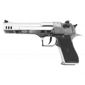 Пистолет охолощенный EAGLE XU никель