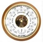 Барометр УТЕС БТК-СН-16 с термометром (корпус-дерево, диам.210 160мм, откр.механизм) малый
